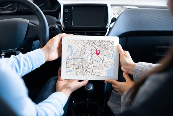 navigation sur automobile
